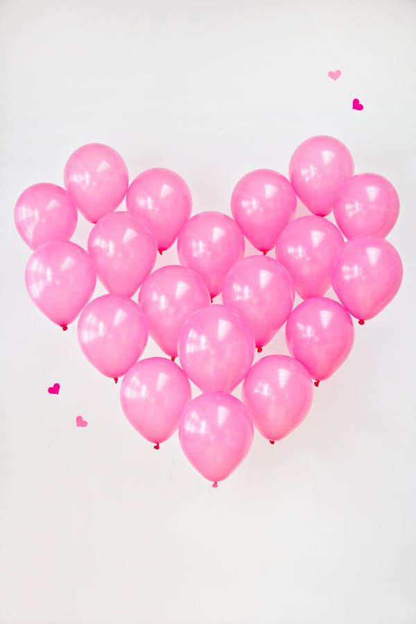 Valentin: coeur avec des ballons