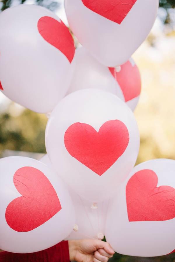 Saint-Valentin: ballons de décoration