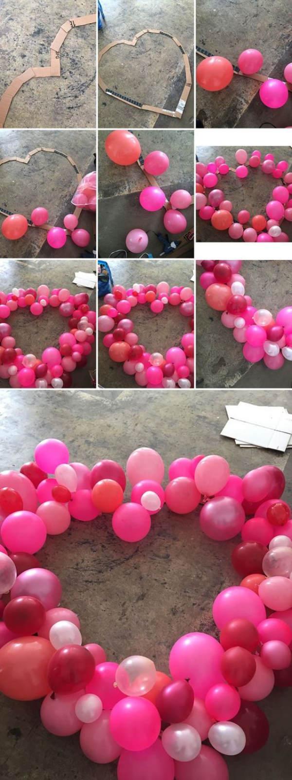 Coeur de ballons pour la Saint-Valentin