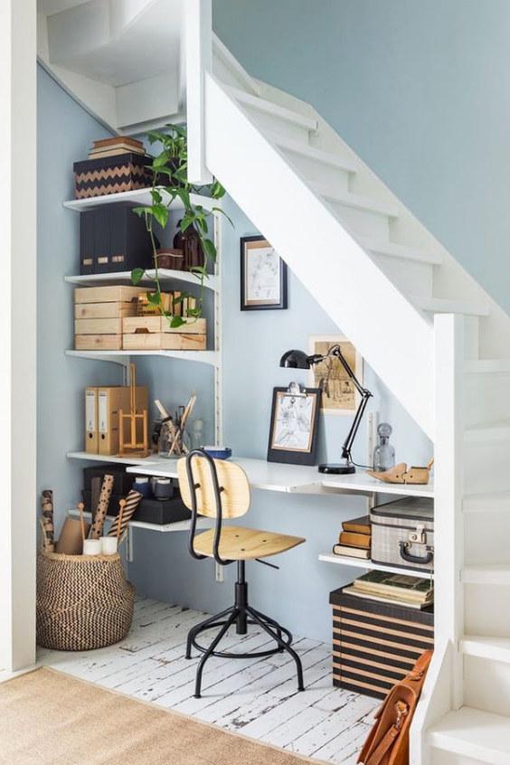 Idées de bureau à domicile petits espaces