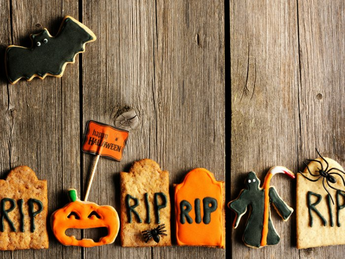 décoration pour les biscuits d'halloween