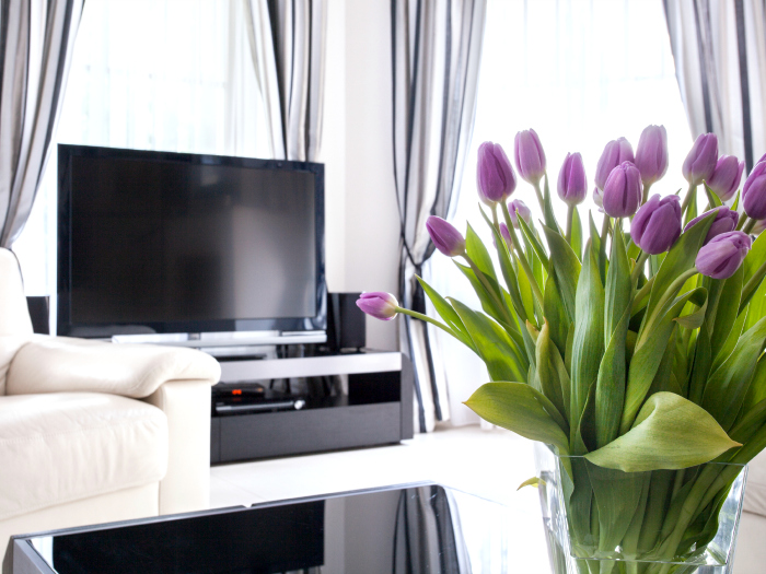 Fleurs printanières décoratives