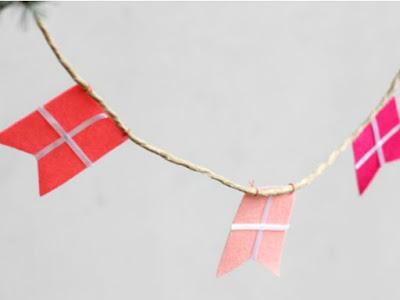 drapeaux en papier guirlandes
