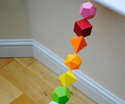 formes de papier guirlandes
