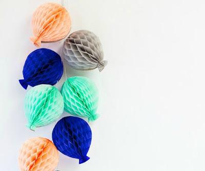 guirlandes ballons en papier