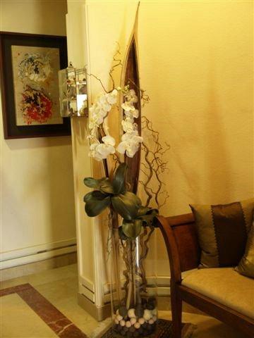 vase de fleurs pour un coin