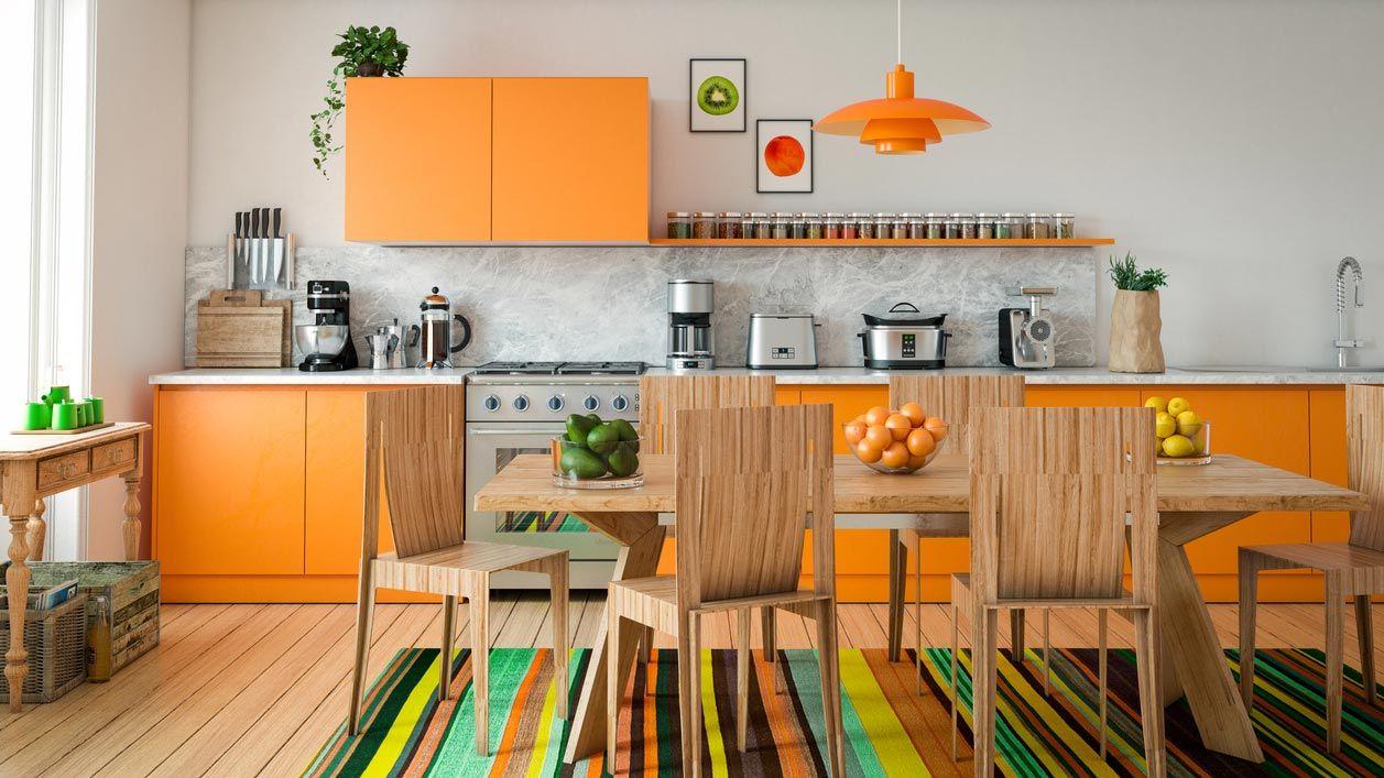Des couleurs très frappantes pour décorer la cuisine