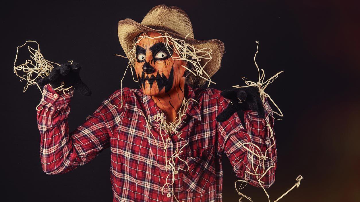 Costume effrayant de citrouille d'Halloween
