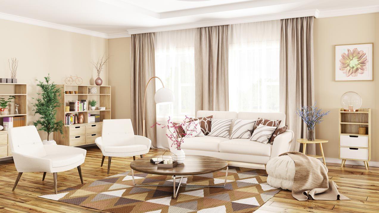 Accessoires: coussins, couvertures et lampes