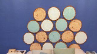 Comment faire une tête de lit avec des disques en bois - Étape 4