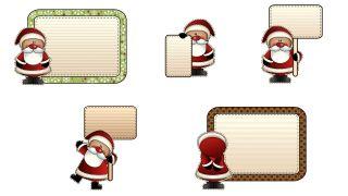 Étiquettes de style Père Noël