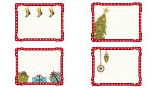 Étiquettes de cadre de Noël