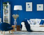 Décoration de couleur bleue