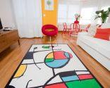 Salon avec couleur et vie