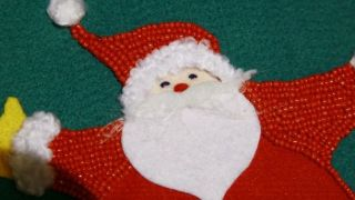 Bas de Noël en feutre - Étape 13