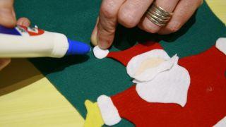 Bas de Noël en feutre - Étape 10