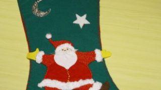 Bas de Noël en feutre - Étape 16