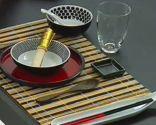 Détails des couleurs de la table orientale