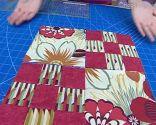 Courtepointe patchwork Block 4