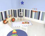 Décorez l'aire de jeux dans la chambre des enfants