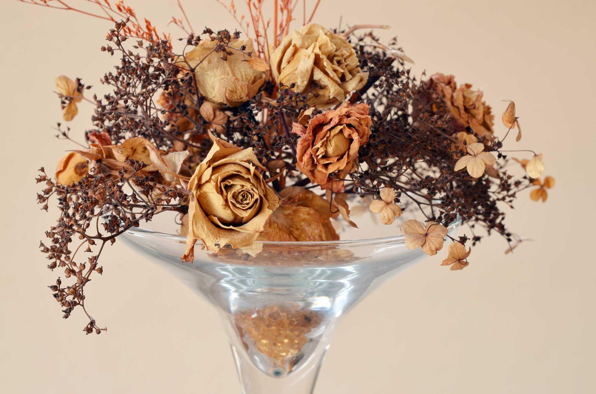Fleurs dans les tons bruns pour l'automne