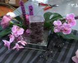 fiançailles d'avant-garde de table florale centrol étape 5