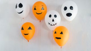 Ballons pour une fête d'Halloween
