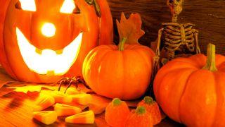 Citrouilles pour une fête d'Halloween