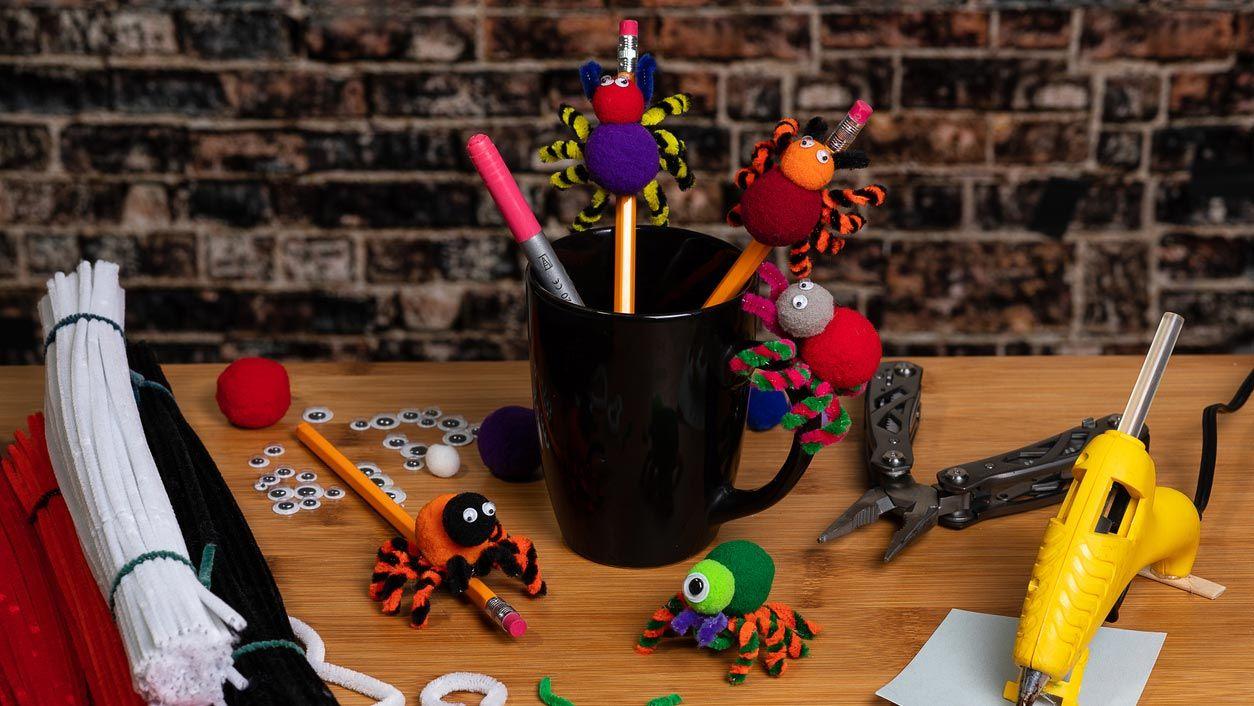 Araignées avec cure-pipes pour crayons