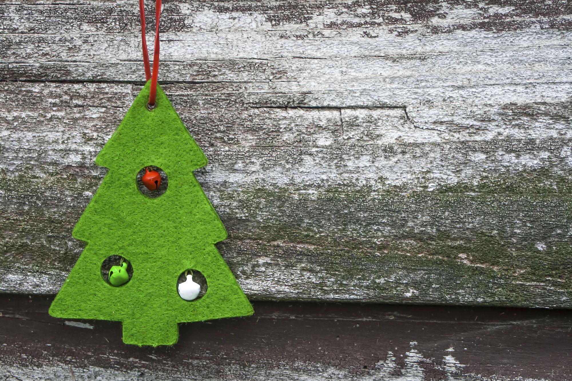 Sapin de Noël en feutre