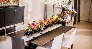 décoration de Noël moderne avec poinsettia ou poinsettia