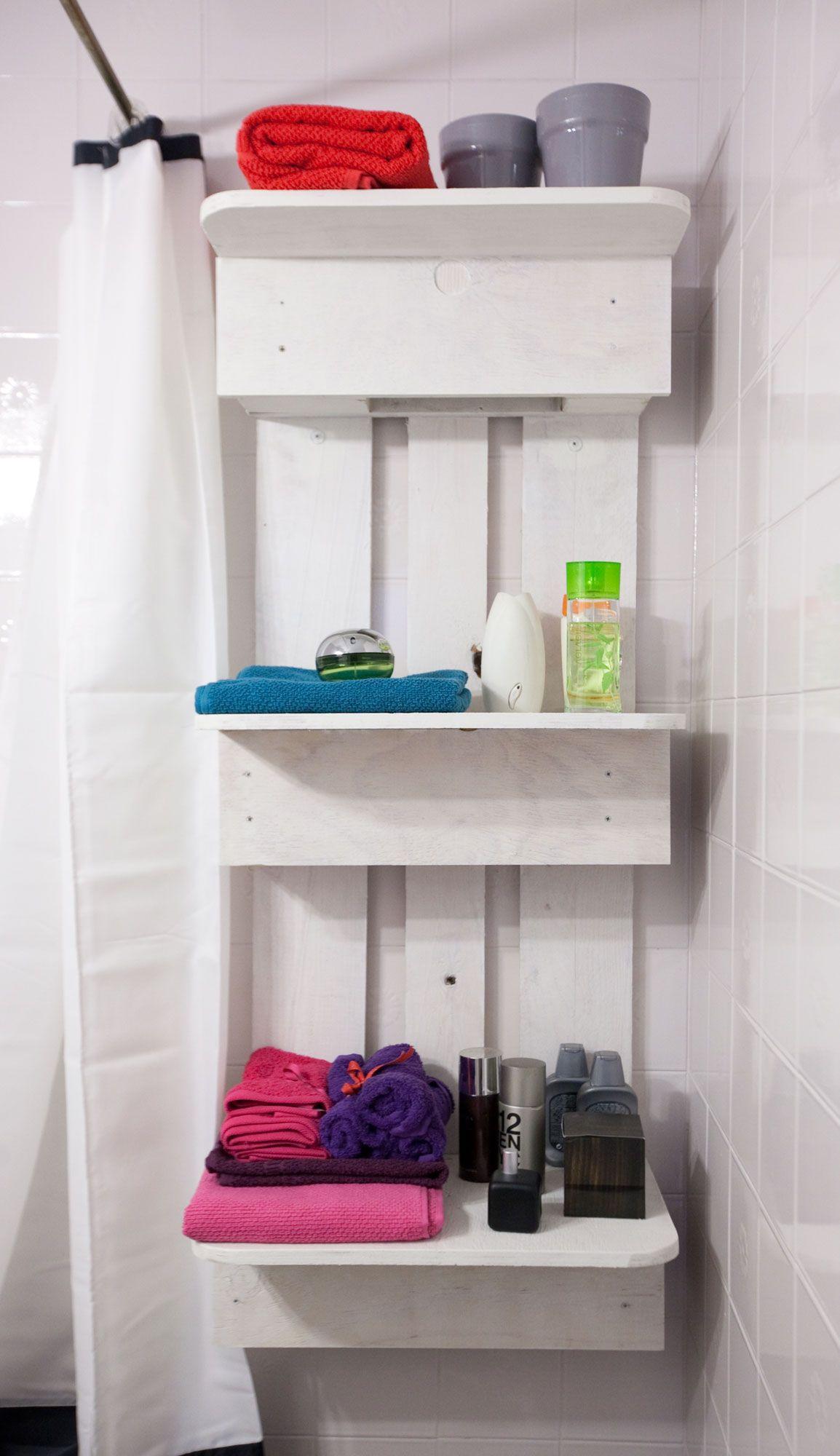 rayonnage de palette de salle de bains mis à jour