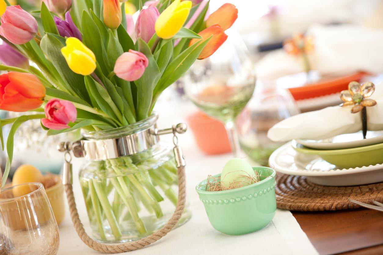 Fleurs pour la décoration de Pâques