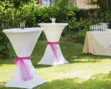Tables de cocktail de mariage