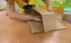 centre de table floral pour enfants en carton et caoutchouc eva - étape 3