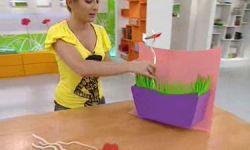 centre de table floral pour enfants en carton et caoutchouc eva - étape 9