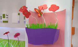 Centre floral pour enfants en carton et caoutchouc Eva - Étape 10