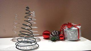 Créer du sapin de Noël avec du fil
