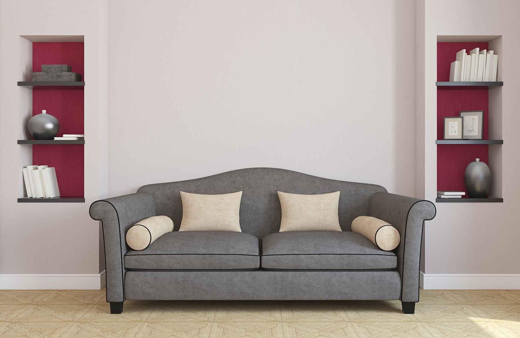Canapé de style classique en gris