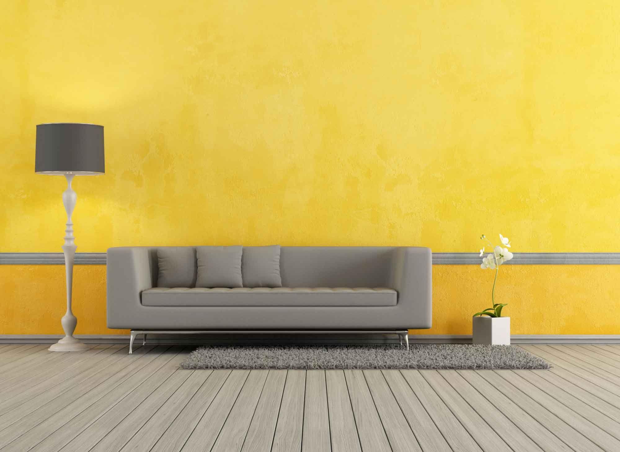 Une touche de couleur à la décoration du salon