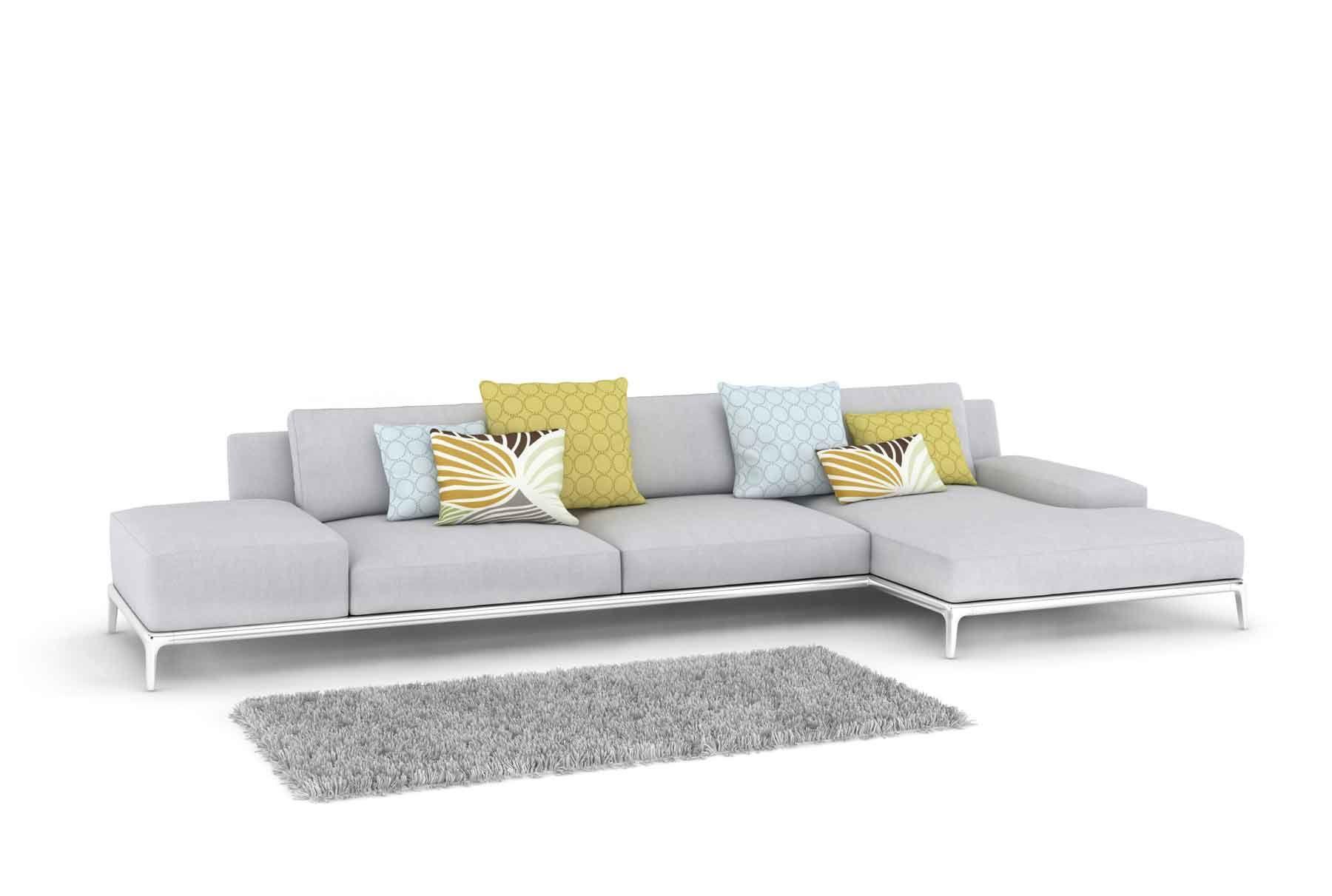 Décor lumineux avec un canapé gris