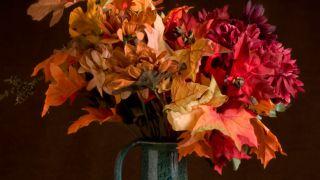 Feuilles séchées pour décorer les vases