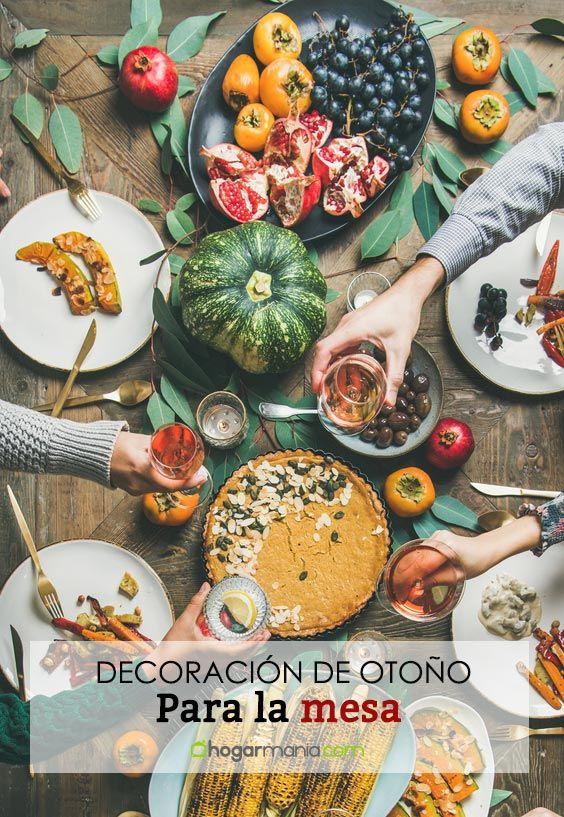 Décoration d'automne pour la table