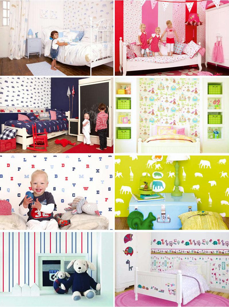 papier peint pour enfants - lits