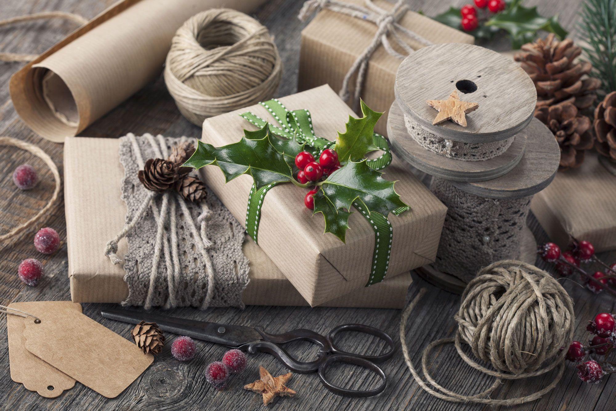emballage cadeau écologique Noël