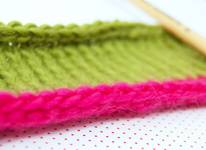 pots de tissu à tricoter