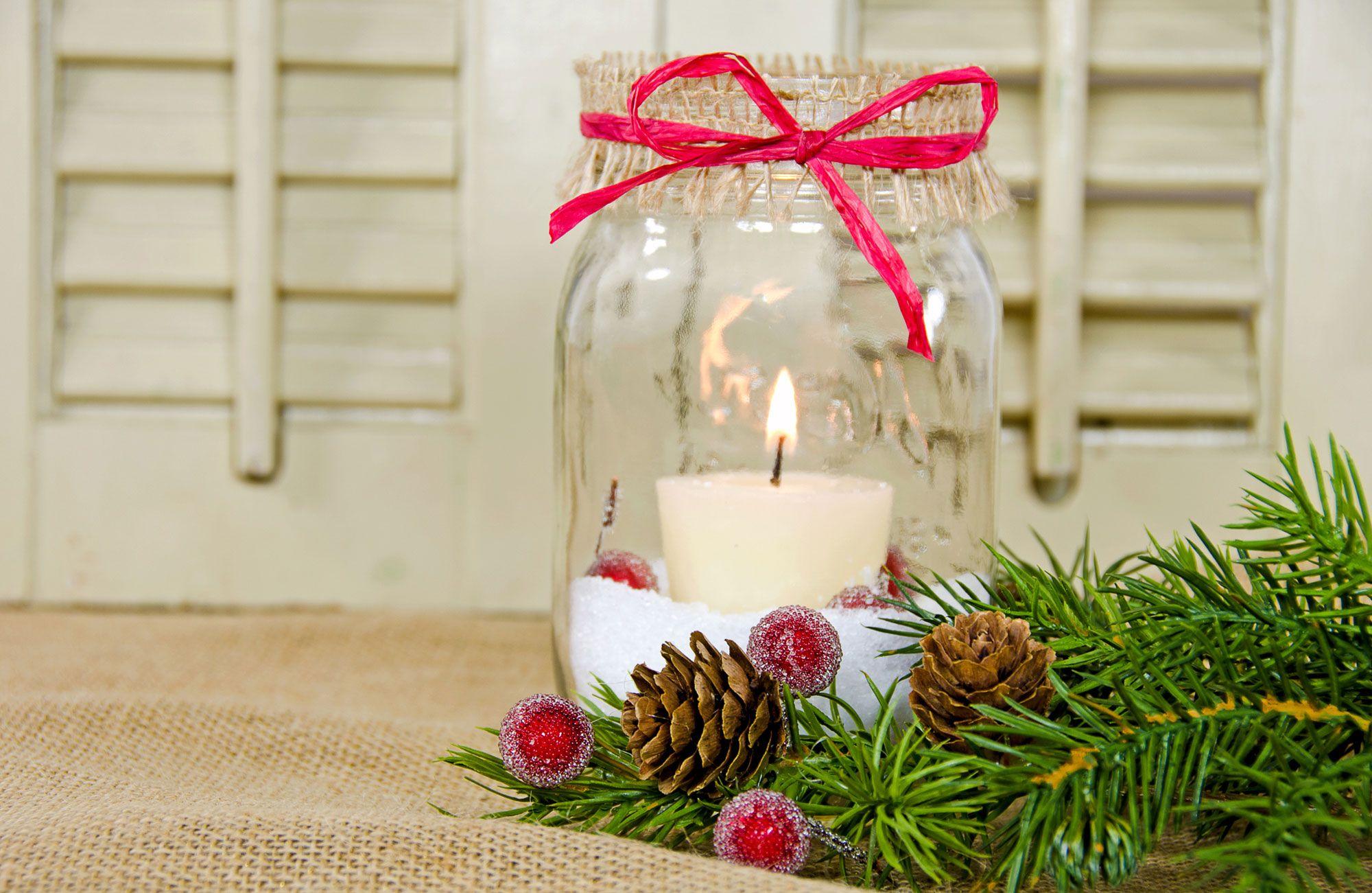 bocaux en verre de Noël