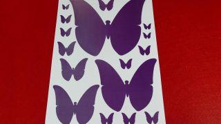 Papillons en papier pour décorer le mur Étape 1