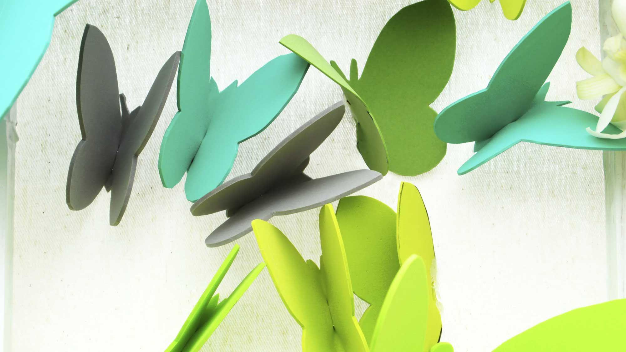 Papillons pour décorer le mur