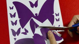 Papillons en papier pour décorer le mur Étape 2